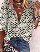 economico Camicie da donna-Camicia Per donna A pois Nero