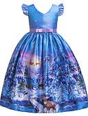 זול שמלות לבנות-שמלה שרוולים קצרים פתית שלג בנות ילדים