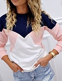 halpa Pusero-Naisten Color Block T-paita Sateenkaari