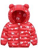お買い得  男の子用 赤ちゃん アウター-赤ちゃん 男の子 ストリートファッション プリント ダウン&コットンキルティング ライトブルー