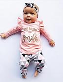 povoljno Vanjska odjeća za bebe-Dijete Djevojčice Ležerne prilike / Aktivan Jednobojni / Print Print Dugih rukava Regularna Komplet odjeće Blushing Pink