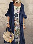 abordables Robes Femme-Femme Grandes Tailles Maxi Kaftan Robe Fleur Vert Bleu Marine L XL XXL Demi Manches