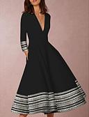 povoljno Poslovne haljine-Žene Elegantno Swing kroj Haljina - Print, Geometrijski oblici Midi