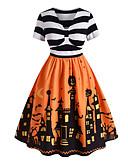 זול שמלות מודפסות-מידי פסים - שמלה גזרת A אלגנטית בגדי ריקוד נשים