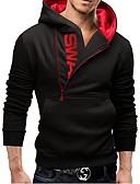 povoljno Muške košulje-Muškarci Aktivan Dugih rukava Hoodie Color block S kapuljačom / Jesen / Zima