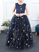 povoljno Haljine za djevojčice-Djeca Djevojčice Galaksija Maxi Haljina Navy Plava