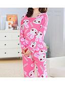 preiswerte Pyjamas-Damen Rundhalsausschnitt Anzüge Pyjamas Geometrisch