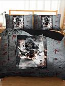 preiswerte Pyjamas-Bettwäschesatz-Bettbezug der Haupttextilien 3d mit Kissenbezug 2 / 3pcs Schlafzimmer-Bettbezug stellt Bettwäscheschädel ein