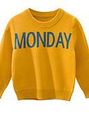 povoljno Džemperi i kardigani za dječake-Djeca Dječaci Osnovni Print Dugih rukava Džemper i kardigan Crn