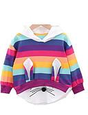 זול חולצות לתינוקות-טישירט שרוול ארוך פסים בנות תִינוֹק