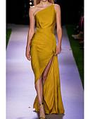 povoljno Večernje haljine-Kroj uz tijelo Na jedno rame Asimetričan kroj Saten Haljina s Prednji izrez / Nabrano po LAN TING Express