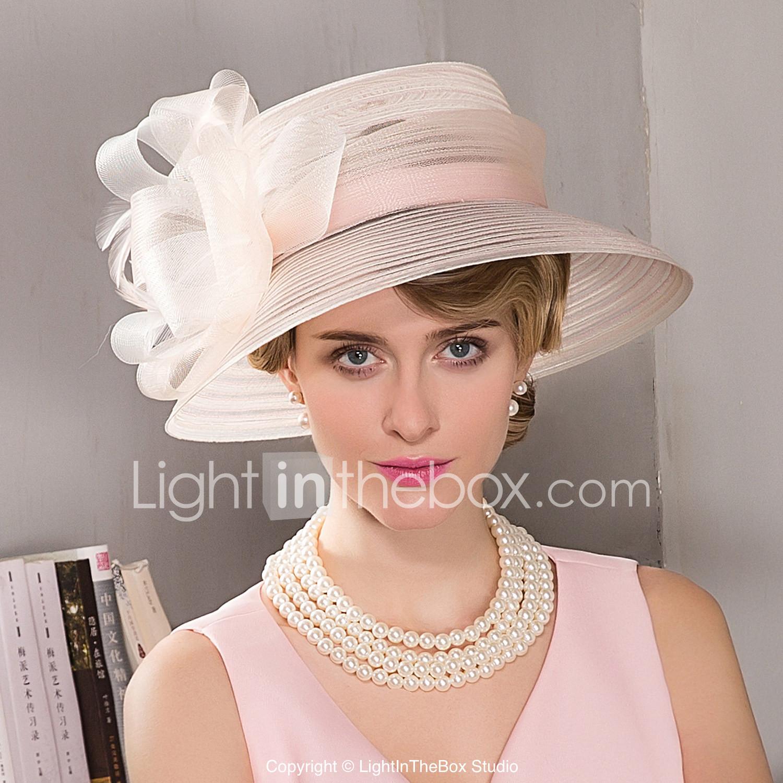 Feather Fascinators Hats Headpiece Elegant Classical Feminine Style ... bce1a247c00