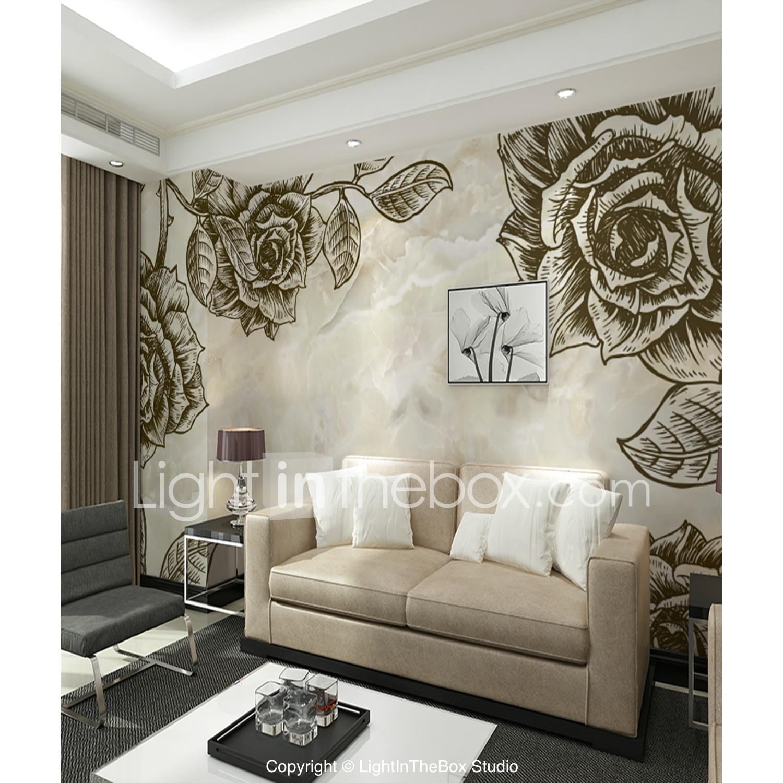 Art Ink Rose Custom 3d Large Wall Covering Mural Wallpaper Fit