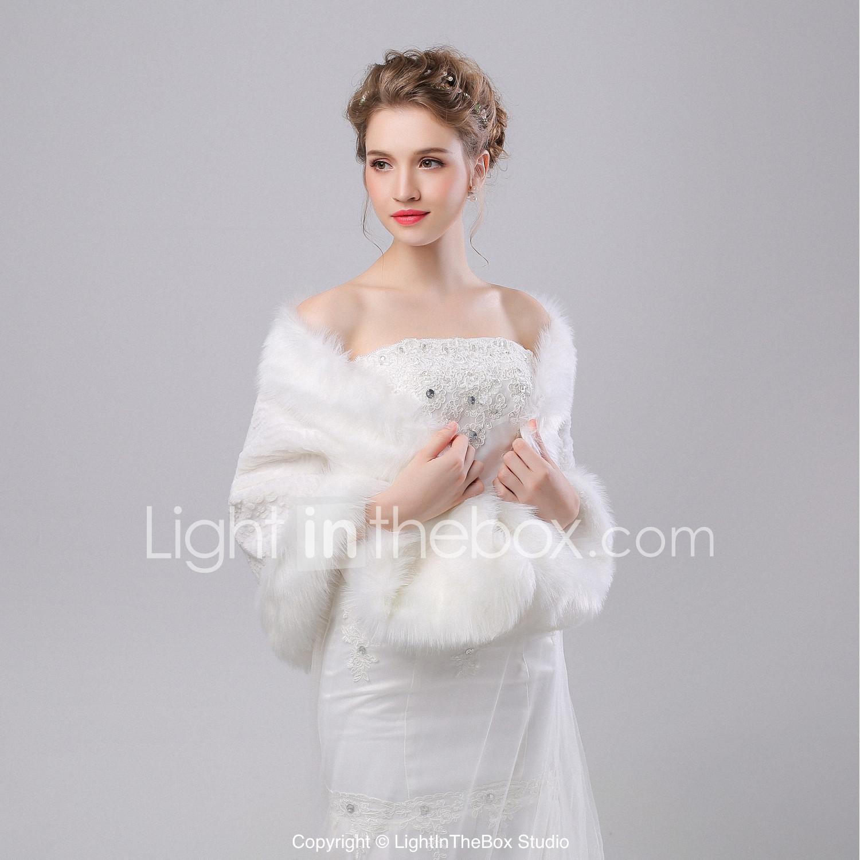 bce0d46e9b669 Sleeveless Faux Fur Wedding / Party / Evening Women's Wrap With ...