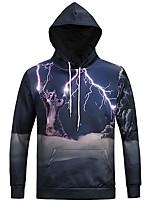 olcso Férfi pólók és pulóverek-férfi hosszú ujjú karcsú kapucnis pulóver -  geometriai kapucnis kék b893b52f81