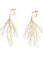 Χαμηλού Κόστους Σκουλαρίκια-Γυναικεία Πλεκτό Σκουλαρίκια με Κλιπ Σκουλαρίκια  Μοναδικό Κοσμήματα Χρυσό Για Γάμου Πάρτι 2ee4d246b2b