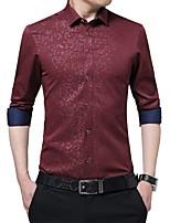 f744e142bd baratos Camisas Masculinas-Homens Camisa Social Estampado