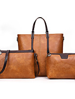 fa5dc30926 Χαμηλού Κόστους Σετ τσάντες-Γυναικεία Τσάντες PU Σετ τσάντα 3 σετ Σετ  τσαντών Φερμουάρ Συμπαγές