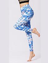 27dabb47b84686 voordelige Fitness-, hardloop- en yogakleding-Dames Stijgbeugel Yoga broek  Sport camouflage Elastaan