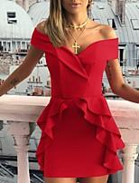 e1cc5da4f89c Χαμηλού Κόστους Γυναικεία Φορέματα-Γυναικεία Εφαρμοστό Φόρεμα Πάνω από το  Γόνατο Ώμοι Έξω