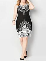 eb3a5e637e27 economico Vestiti taglie forti-Per donna Elegante Fodero Vestito Fantasia  geometrica Sopra il ginocchio
