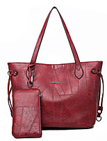 e4a54a5032 Χαμηλού Κόστους Σετ τσάντες-Γυναικεία Τσάντες PU Σετ τσάντα Φερμουάρ  Συμπαγές Χρώμα Μαύρο   Καφέ