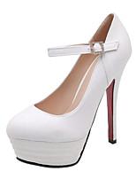 188011fb billige Højhælede sko til damer-Dame Hæle Sexy Sko Stilethæle Rund Tå  Spænde PU Klassisk