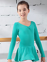 economico -Abbigliamento da ballo per bambini / Danza classica Body Da ragazza Addestramento Cotone Con balze / Ondulato Calzamaglia / Pigiama intero