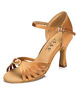 14d406ad abordables Zapatos de Baile Latino-Mujer Satén Zapatos de Baile Latino  Detalles de Cristal Tacones