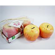 リンゴデザイン☆キャンドル(2個セット)