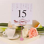 tarjetas de número de mesa 10 portatarjetas de polietileno recepción nupcial