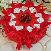 Pirámide Papel de tarjeta Soporte para regalo  Con Flores Cintas Cajas de regalos
