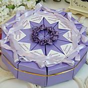 Pirámide Papel perlado Soporte para regalo  Con Flores Cintas Cajas de regalos