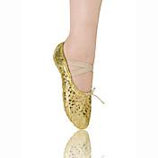 女性/子供のためのスプリットソールバレエスリッパ合成皮革製アッパーダンスシューズ
