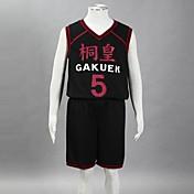 Inspirado por Kuroko no Basket Aomine Daiki Animé Disfraces de cosplay Trajes Cosplay Estampado Sin Mangas Chalecos Pantalones cortos Para