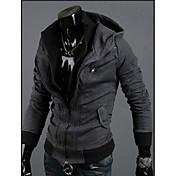 Gray Hoodie del color del contraste de la manera camisa oscura de los hombres QN