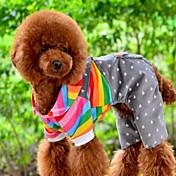 Perro Mono Ropa para Perro Rayas Naranja Algodón Disfraz Para mascotas Hombre Mujer Bonito Casual/Diario