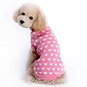 Gato Perro Suéteres Ropa para Perro Mantiene abrigado Corazones Rosa Disfraz Para mascotas