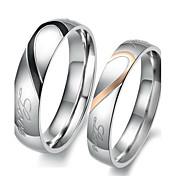 女性用 カップルリング 婚約指輪 幸福 結婚式 ステンレス鋼 ハート ジュエリー 用途 結婚式 パーティー 誕生日 婚約 日常