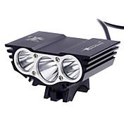 Linternas de Cabeza LED 3000 Lumens 3 Modo Cree XM-T6 L2 Sí Recargable Impermeable Super Ligero Tamaño Compacto Tamaño Pequeño para