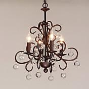 4-luz Estilo de vela Lámparas Araña Luz Ambiente - Estilo de la vela, 220-240V Bombilla no incluida / 10-15㎡ / E12 / E14