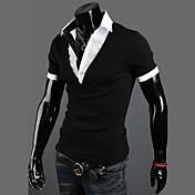 Contraste de color simple camisa de los hombres