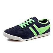 Hombre Zapatos Cuero Primavera / Verano / Otoño Confort Paseo Tacón Plano Negro / Rojo / Azul