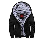 moda casual de manga larga con capucha sweatshier grueso de los hombres