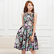 AMC印刷ウエストのドレス