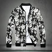 SMRのメンズファッション花柄スタンドカラーのjacket_1626