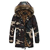 メンズ毛皮の襟自己修養迷彩のコート