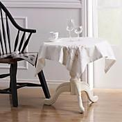 """""""×34""""刺繍正方形のテーブルクロス1 34と4 11 """"×11""""リネンのナプキンのセット"""