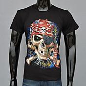 MEN Tシャツ ( コットン / ポリエステル ) カジュアル / 仕事 ラウンド - 半袖