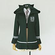 Inspirado por Dangan Ronpa Chiaki Nanami Vídeo Juego Disfraces de cosplay sudaderas Cosplay Un Color Verde Manga LargaAbrigo / Camisas /
